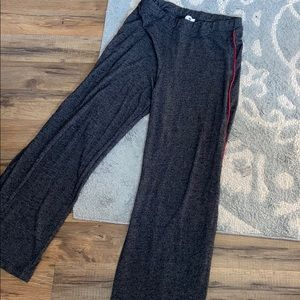 Sundry Grey Sweatpants With Red Stripe